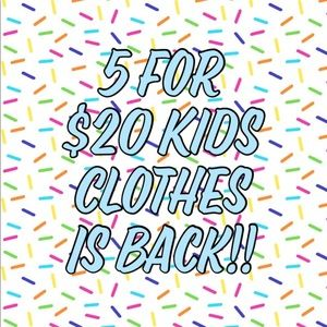 🎉 💥 5 for $20 Bundles of Kids Items 💥 🎉